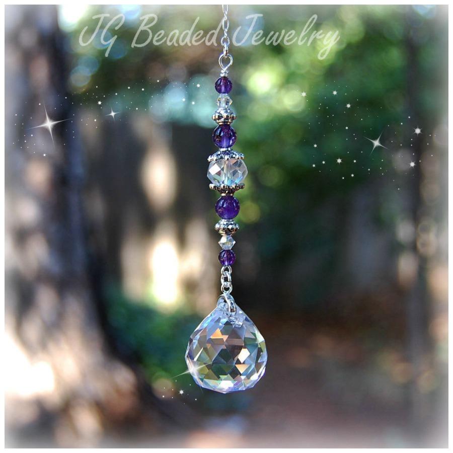 Amethyst Crystal Prism Suncatcher