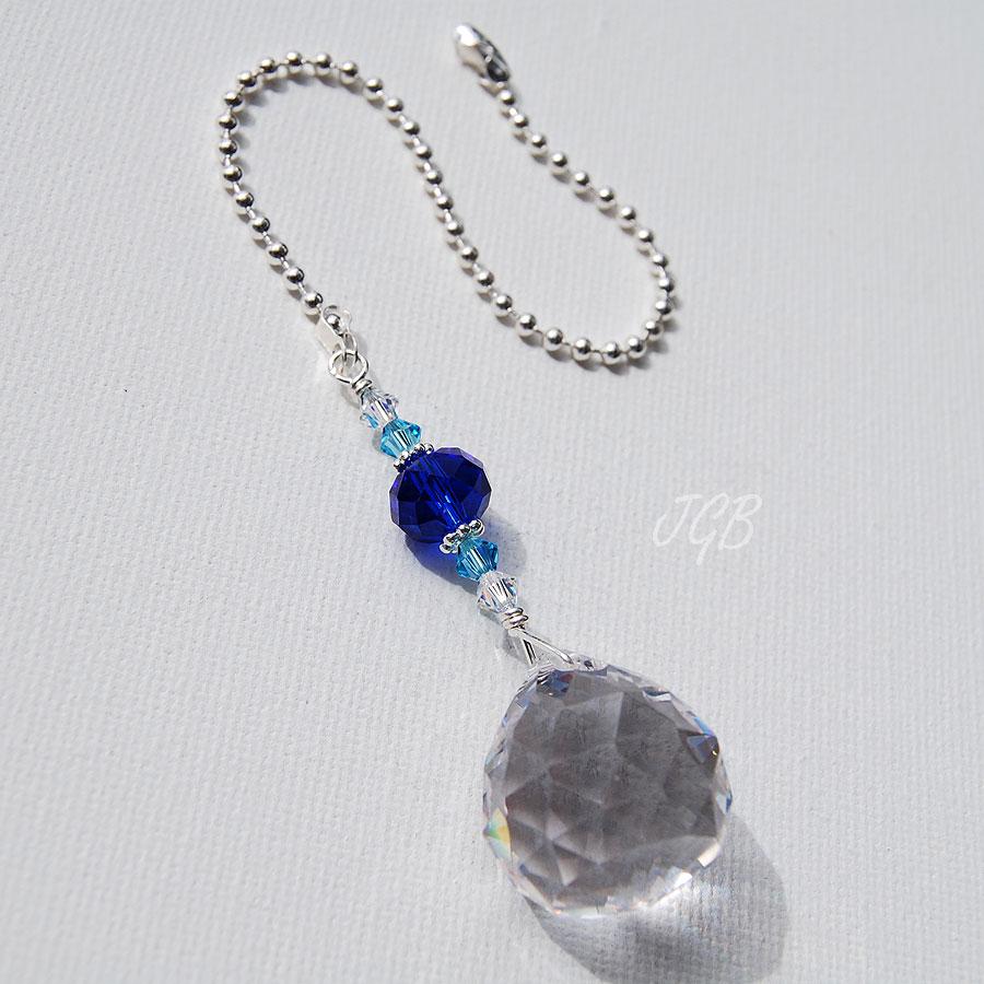 Blue Crystal Light Pull
