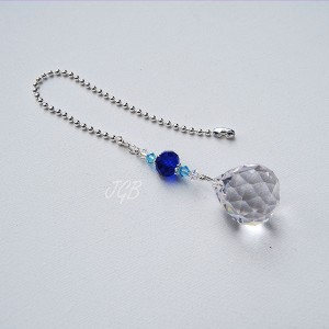 Blue Crystal Light Pull