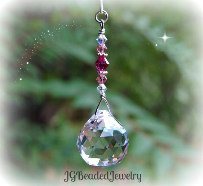 Pink Crystal Decoration