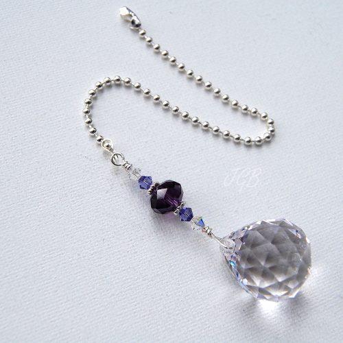 Purple Crystal Light Pull