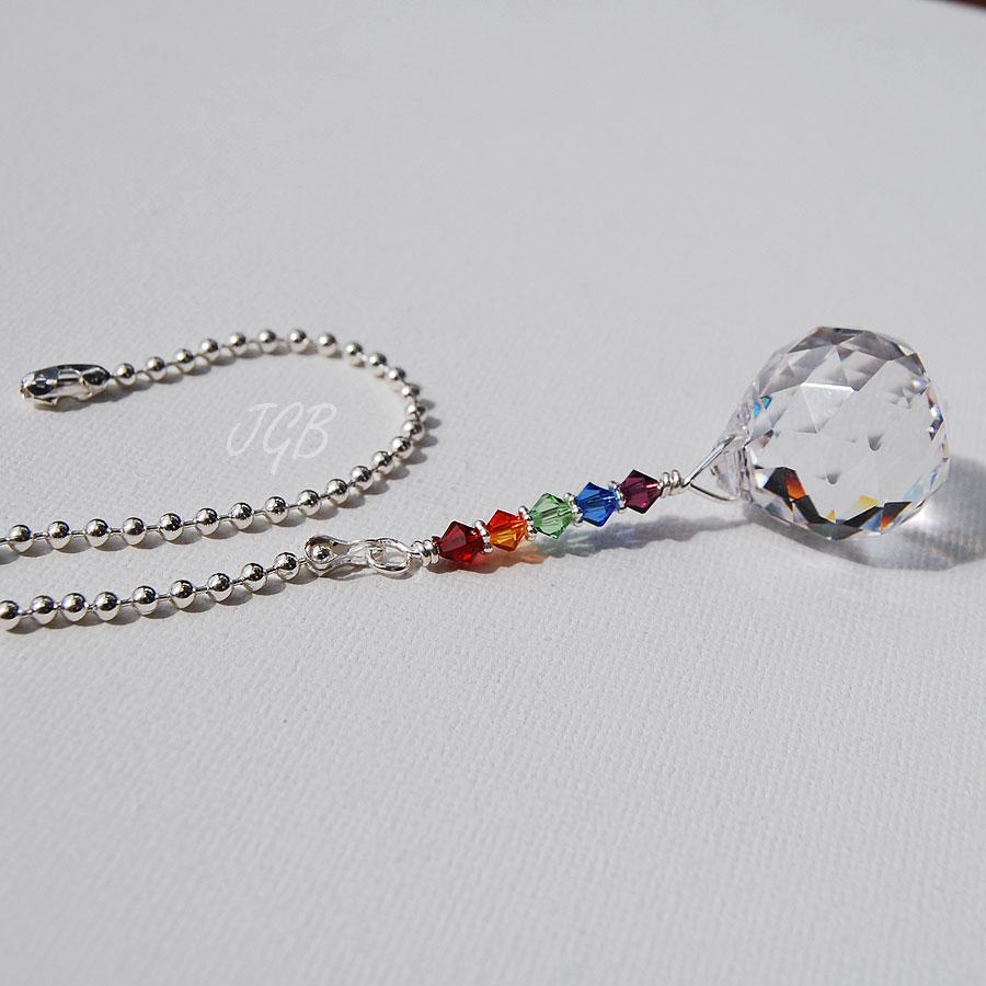 Rainbow Crystal Light Pull