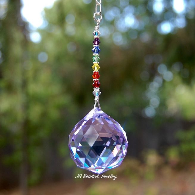 Rainbow Hanging Crystal