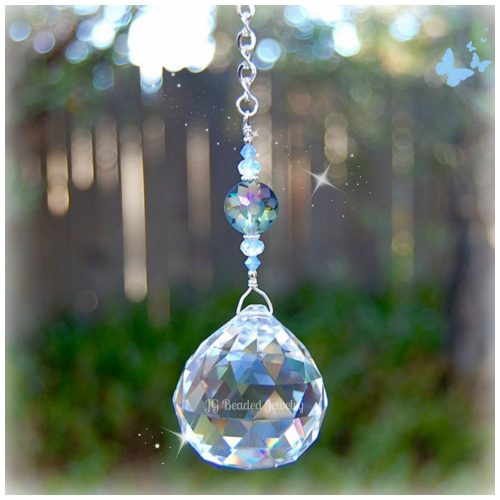 Flower Opal Crystal Suncatcher
