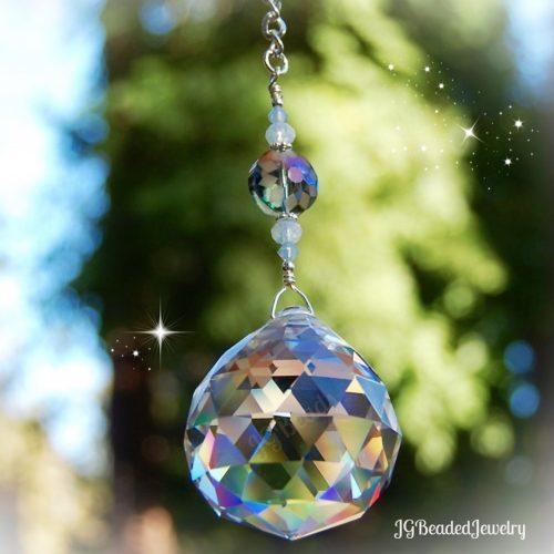 Flower Opal Crystal Suncatcher