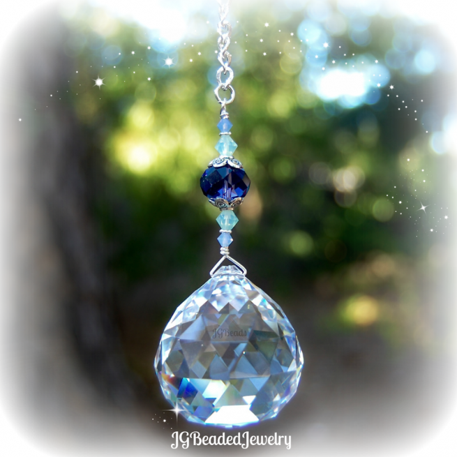 Purple Opal Crystal Suncatcher