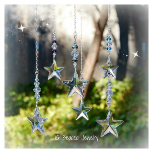 Hanging Swarovski Star Crystal