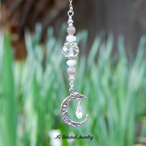 Gemstone Moon Decoration
