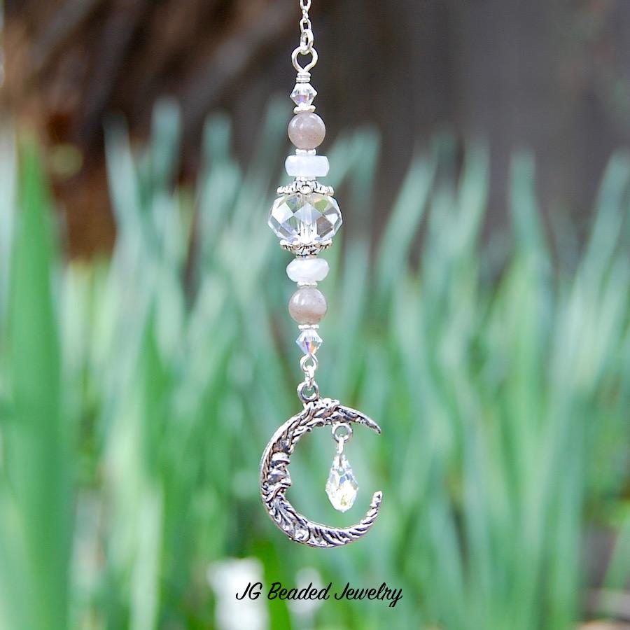 Gemstone Moon Decoration