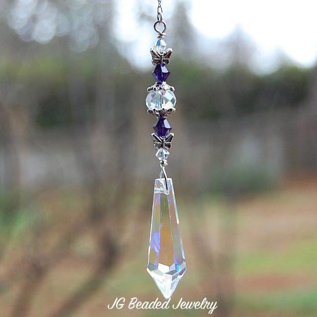 Butterfly Teardrop Prism Crystal