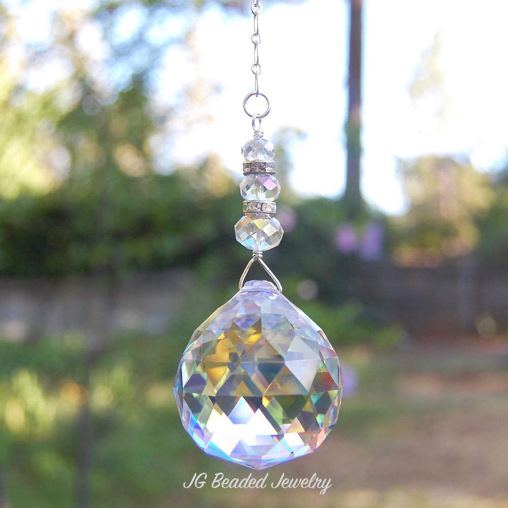 Iridescent Prism Crystal Suncatcher