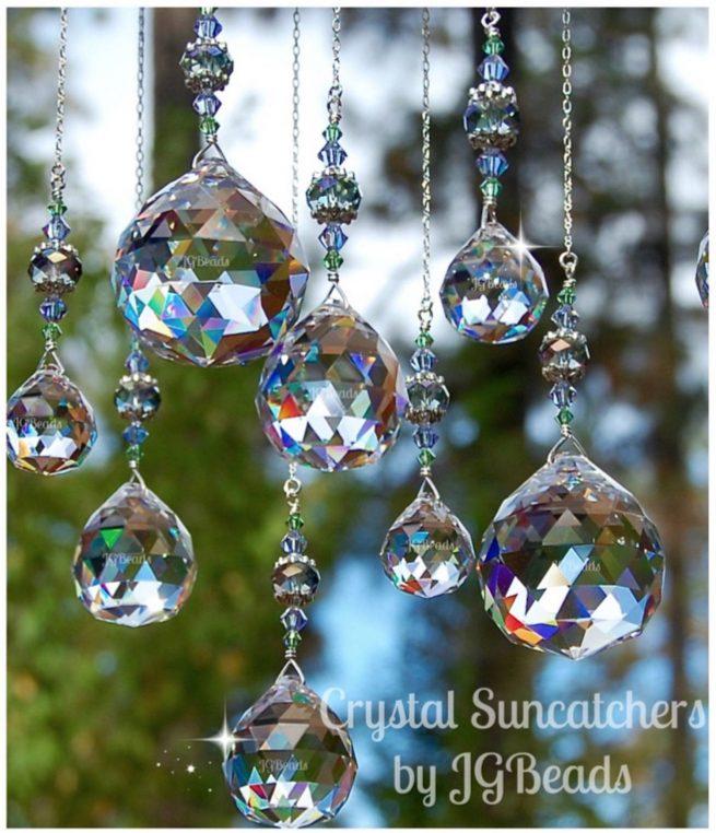 Hanging Crystal Prisms