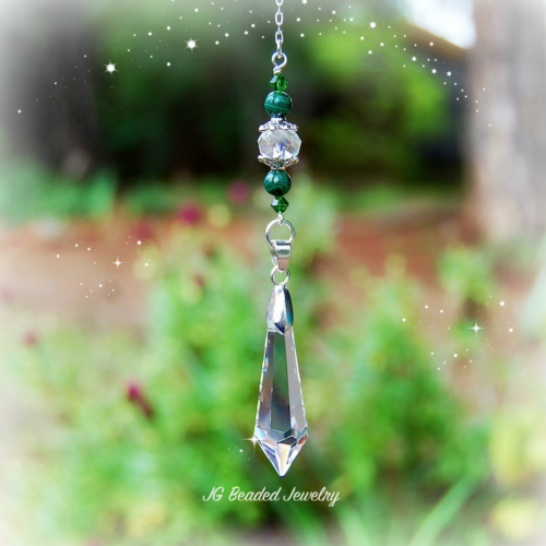 Malachite Crystal Teardrop