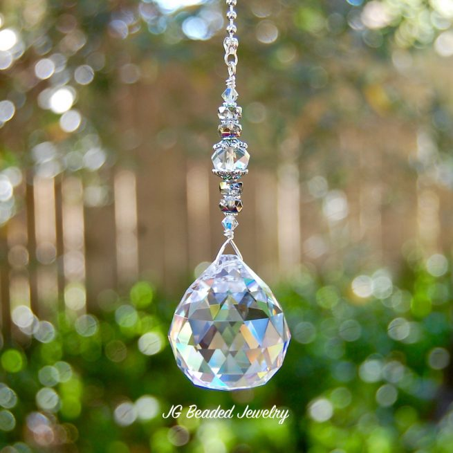 Fan Pull Chain Crystal Ornament