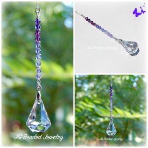Purple Rain Swarovski Suncatcher