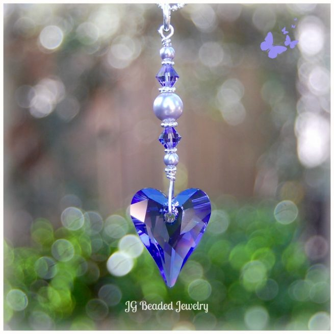 Purple Swarovski Wild Heart