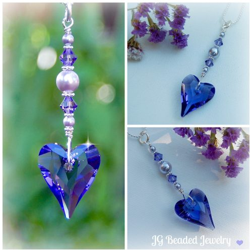 Purple Heart Crystal Suncatcher