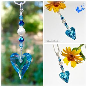 Blue Wild Heart Swarovski Crystal