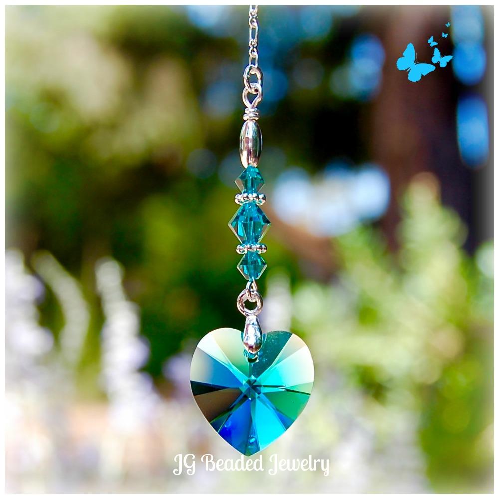 Swarovski Crystal Blue Heart