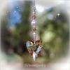 Golden Heart Swarovski Crystal Suncatcher