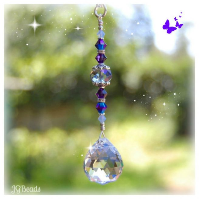 Rearview Mirror Hanging Crystal Ball