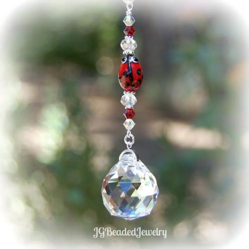 Red Ladybug Crystal Prism