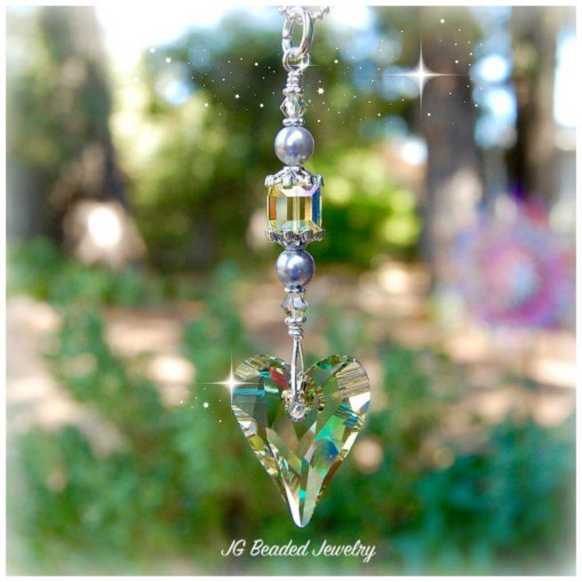 Swarovski Heart Crystal Suncatcher