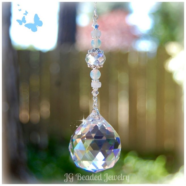 Moonstone Crystal Suncatcher