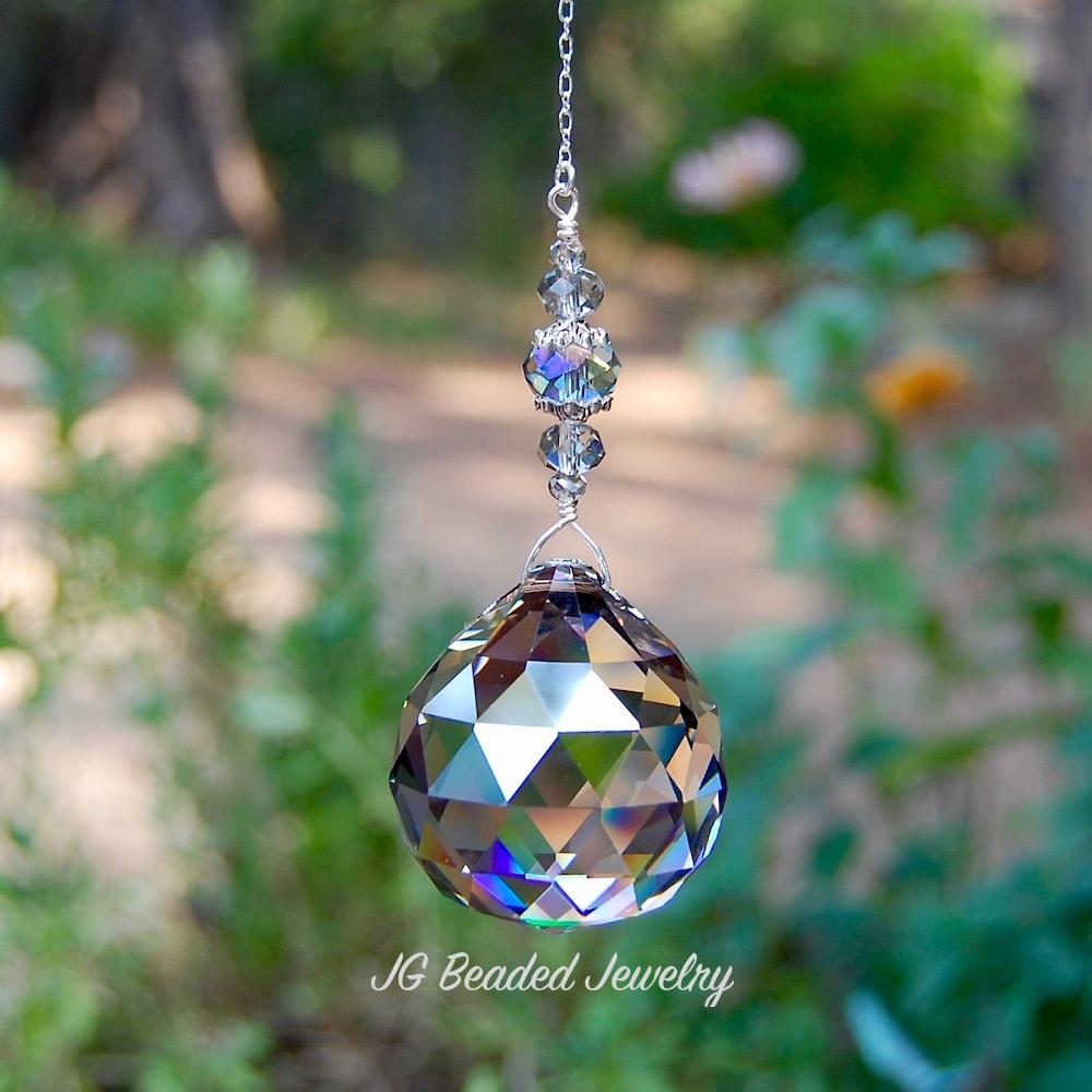 Silver Prism Suncatcher
