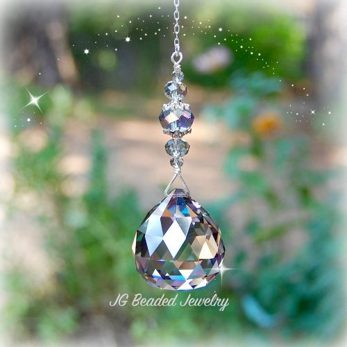 Silver Shade Hanging Prism