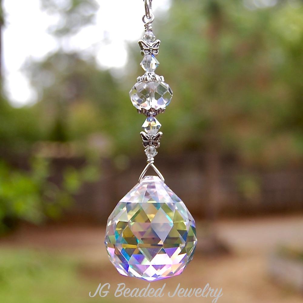 Butterfly Prism Suncatcher Jg Beads
