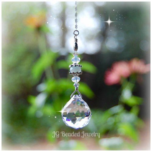 Blue Opal Crystal Prism