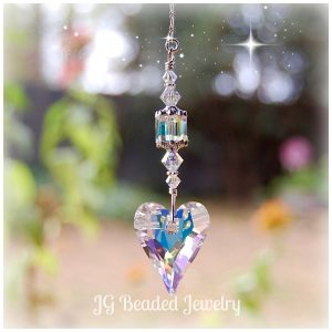 Hanging Crystal Heart