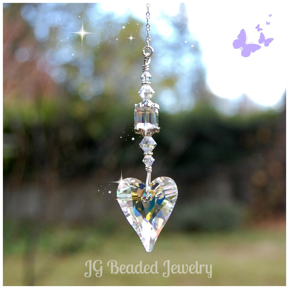 Swarovski Crystal Heart Jg Beads