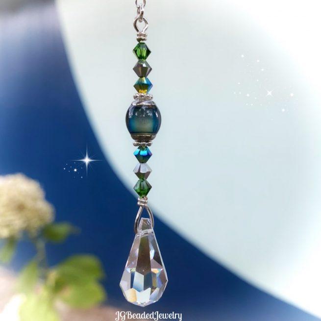 Mood Bead Crystal Teardrop Decoration