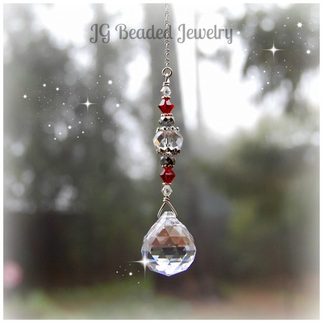Red Hanging Crystal Prism
