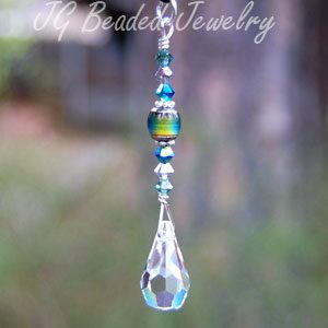 Mood Bead Crystal Teardrop Decoration