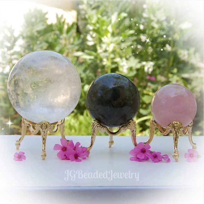 Crystal Sphere Stand