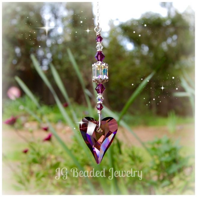 Purple Heart Suncatcher