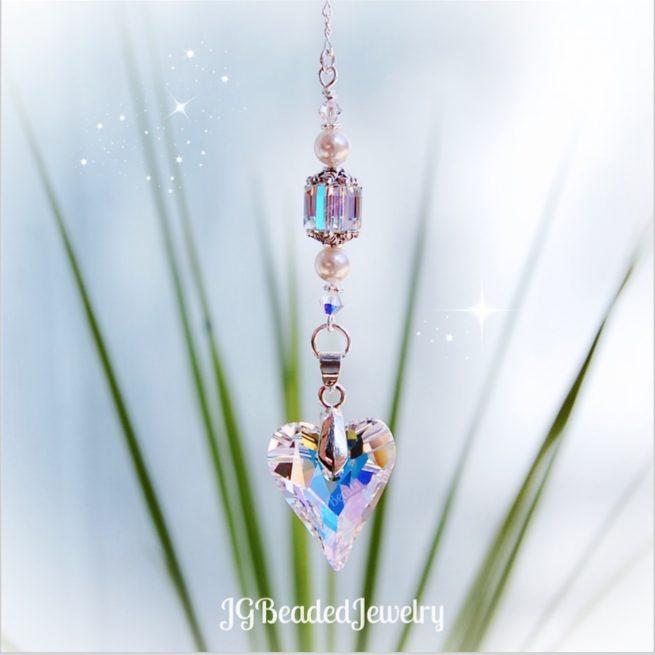 Swarovski Heart Suncatcher Crystal