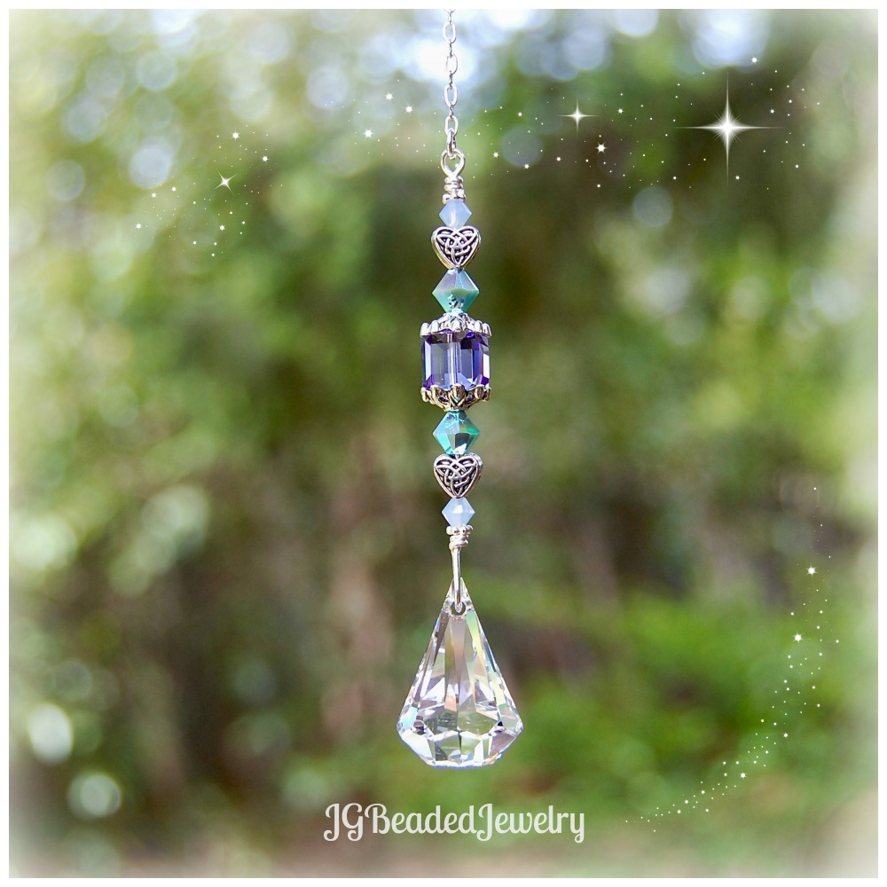 Celtic Heart Swarovski Raindrop