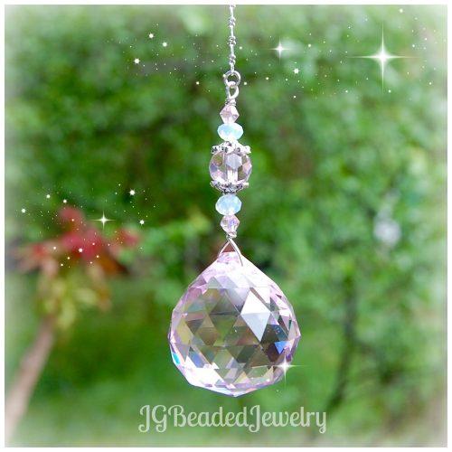 Pink Opal Hanging Prism