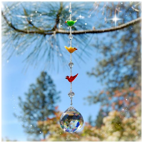 Three Little Birds Suncatcher