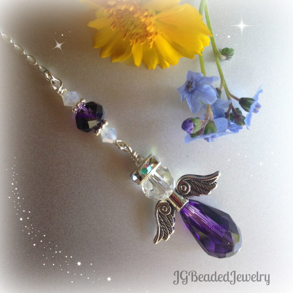 Purple Opal Guardian Angel