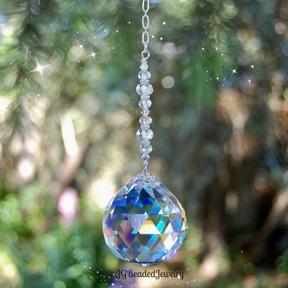 Large Hanging Window Crystal Prism Suncatcher