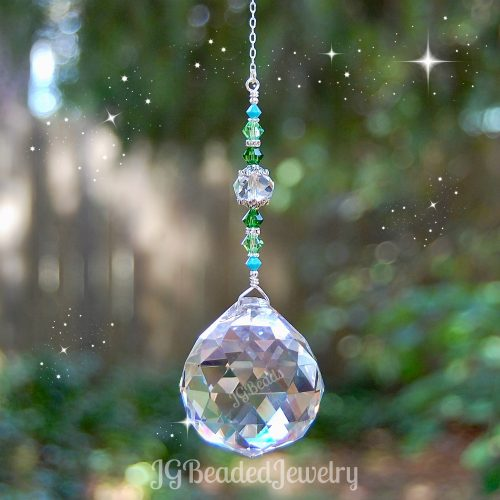 Large Green Turquoise Suncatcher