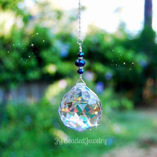 Iris Blue Crystal Prism
