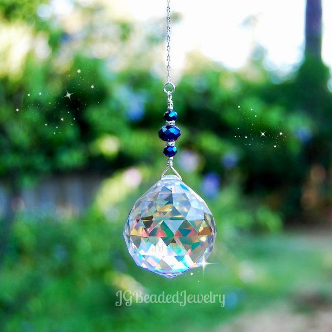 Blue Iris Prism Crystal