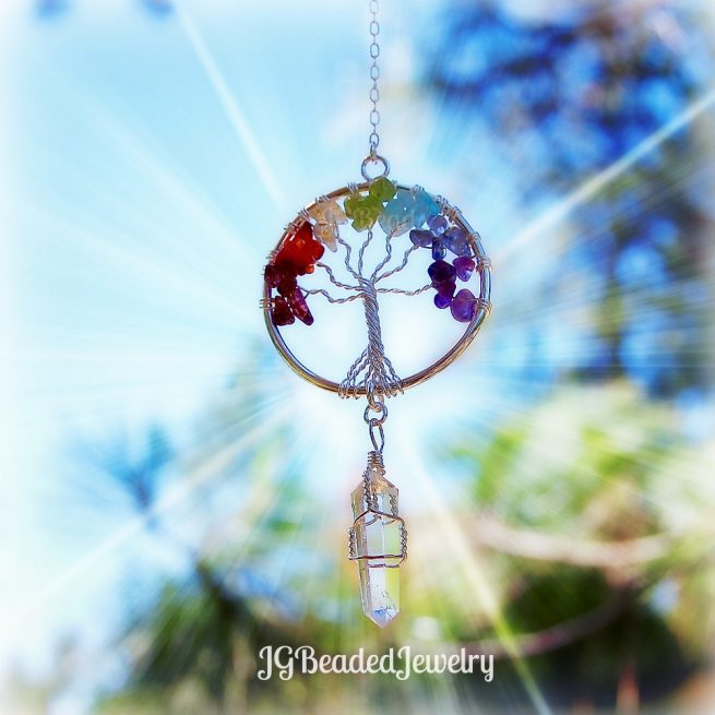 Chakra Gemstone Tree of Life Crystal