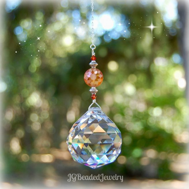 Orange Sunshine Crystal Suncatcher